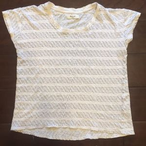 Madewell cropped polka dotted T-Shirt XS